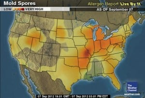 US Mold Spore Map