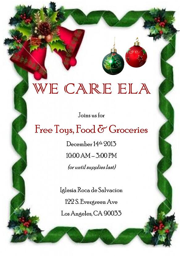 We Care ELA 2013 Flyer