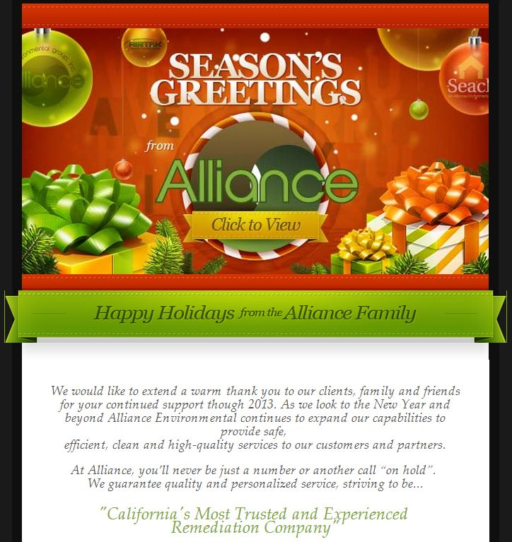 Alliance Holiday Greeting 2013