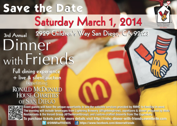Save the Date for Dinner with Friends