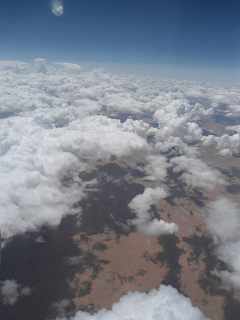 View out airplane window