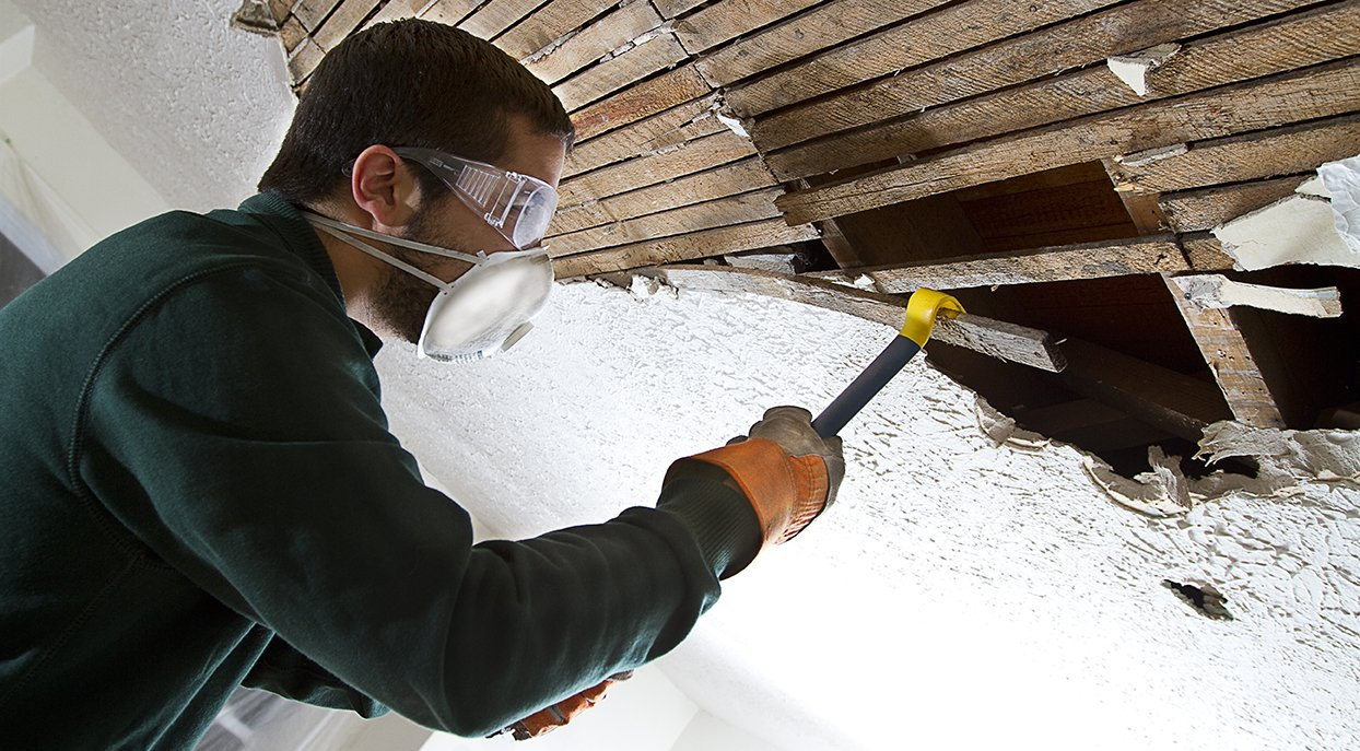 asbestos ceiling removal