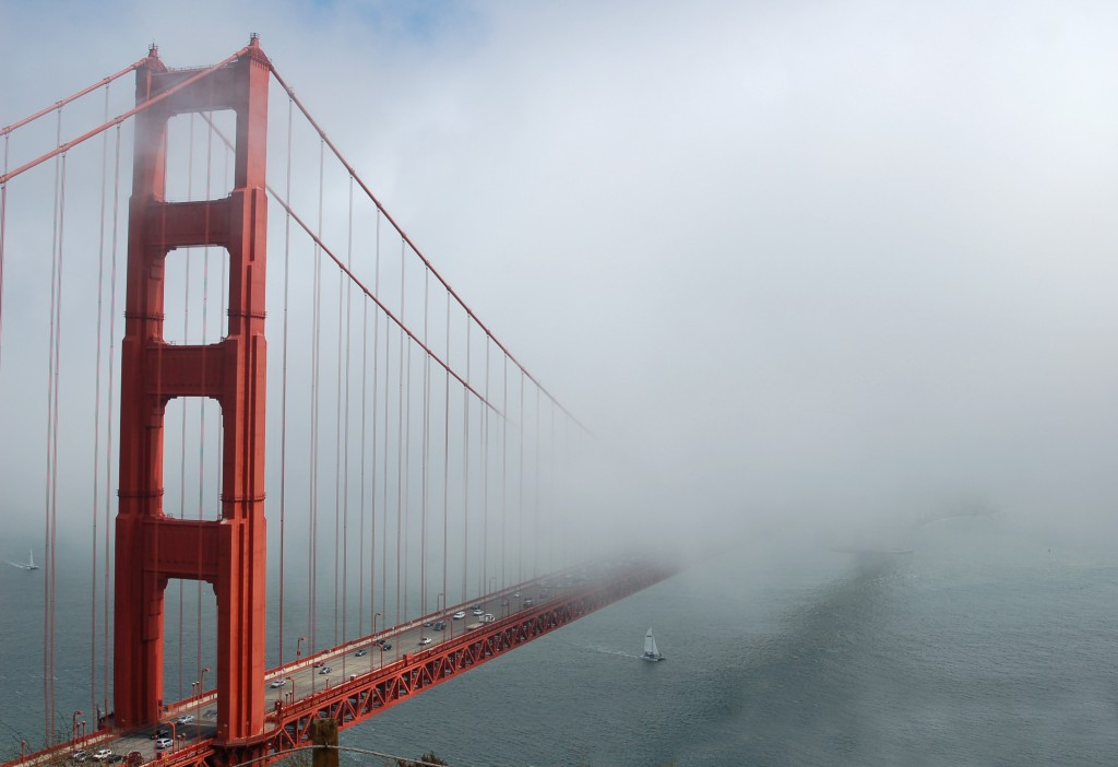 Fog over the Golden Gate Bridg